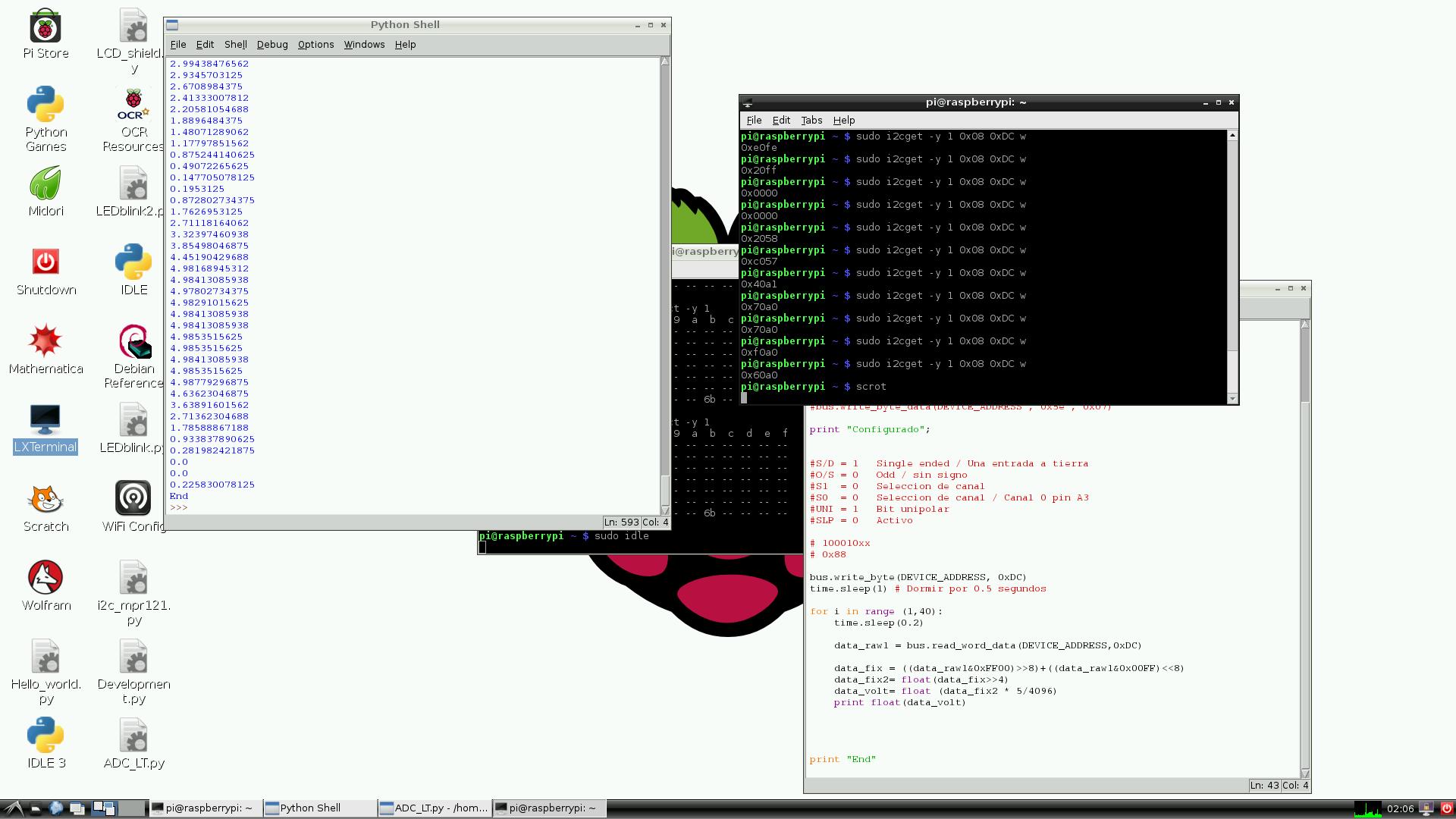 Raspberry Pi ADC LTC2309