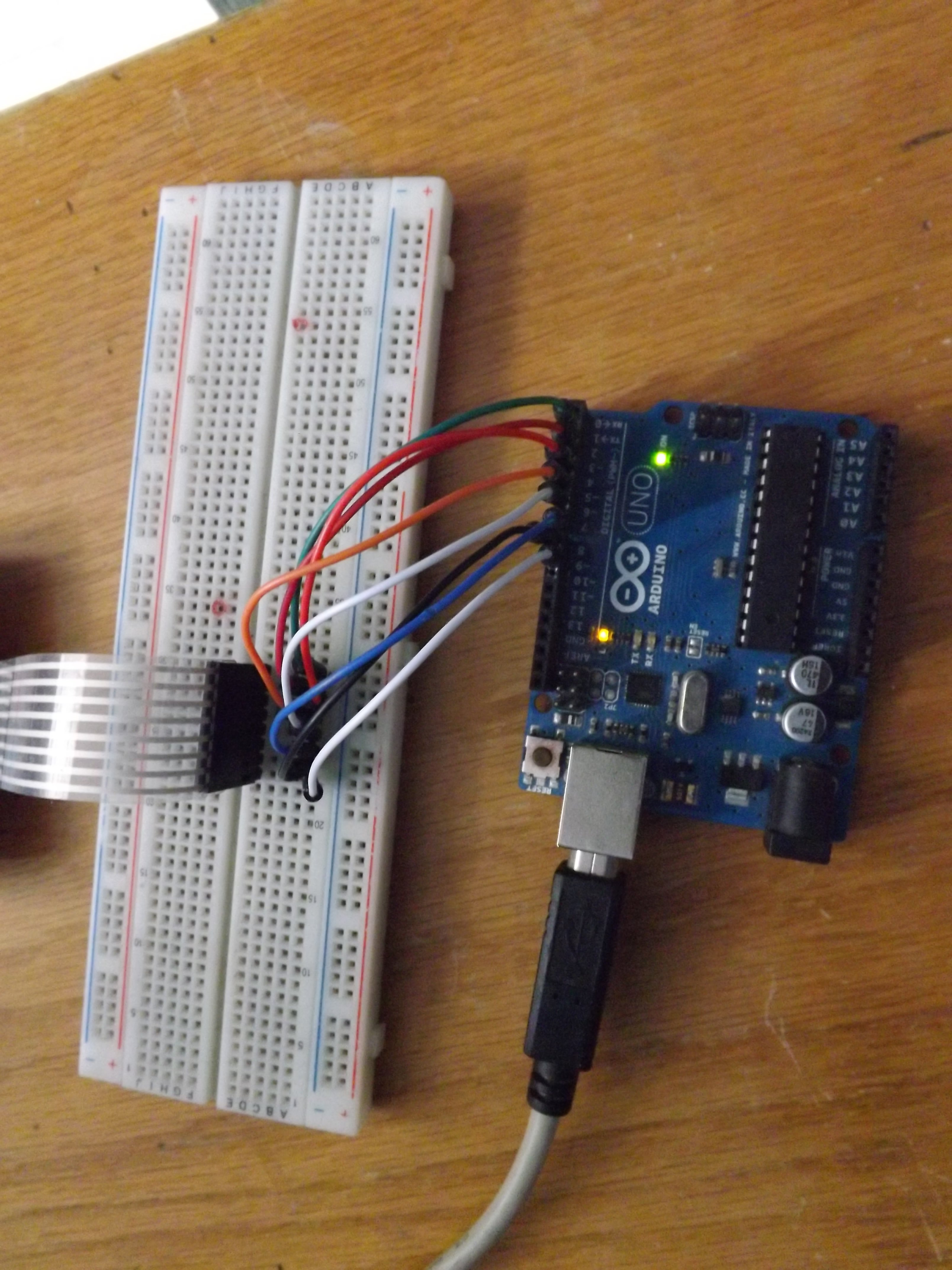 imagen5: led del pin 13 del arduino encendido