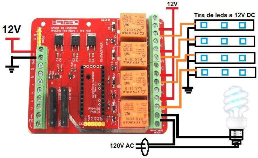 Tarjeta Arduino Relay Shield
