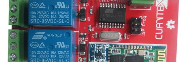 Programacion Bluetooth con salida a relevador