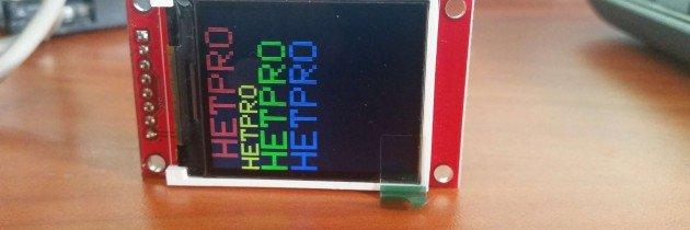 LCD TFT 1.8″ comunicación SPI