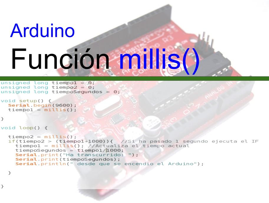 Arduino millis - Introduccion