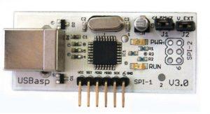 Programador de un Microcontrolador, llamado USBasp para arquitectura AVR