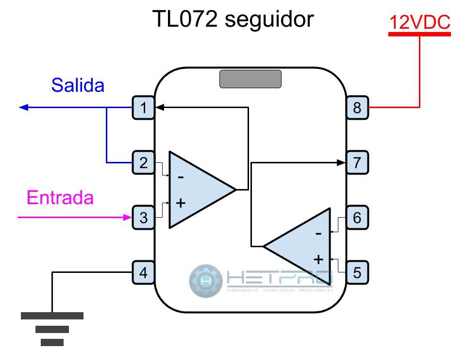 TL072CP seguidor