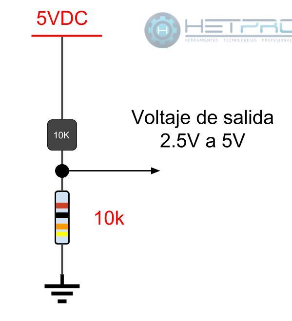 Termistor NTC y su circuito