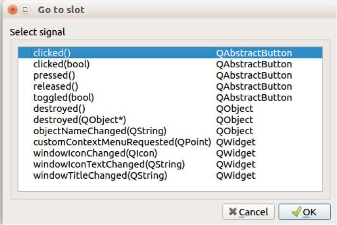 Funciones del boton en QT
