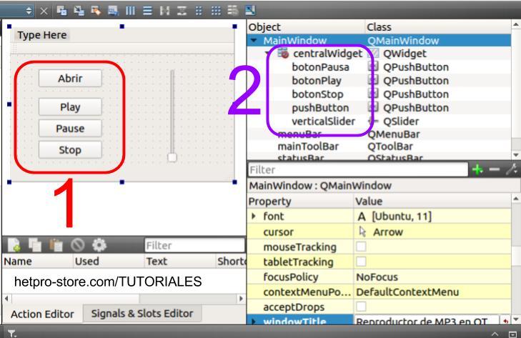 QT Creator un Reproductor de MP3 con QMediaPlayer Paso 3