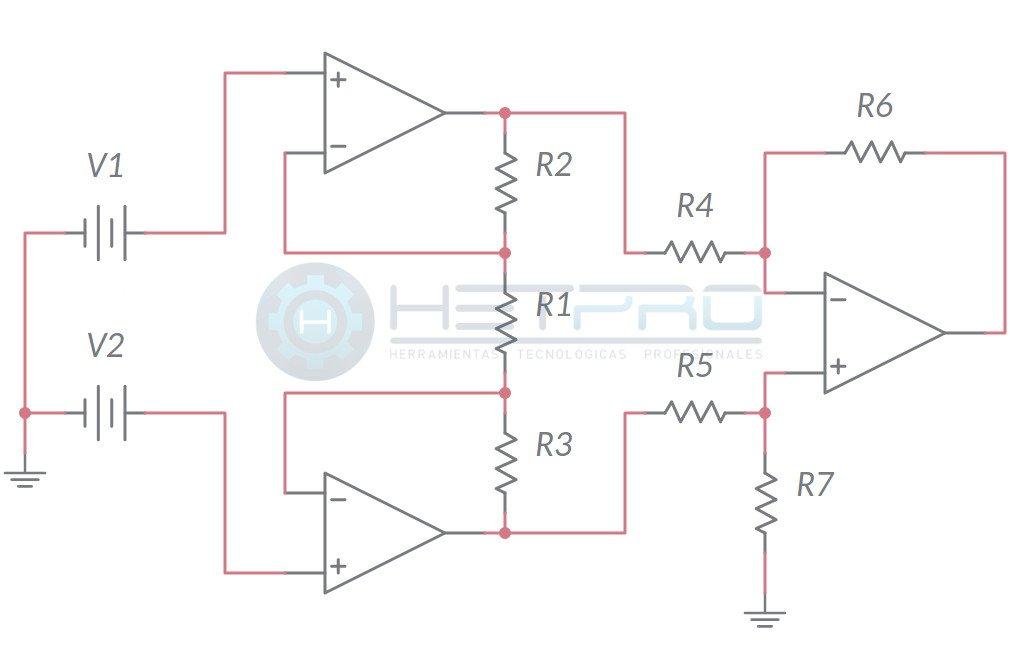 Amplificador De Instrumentaci 243 N En Modo Diferencial Hetpro