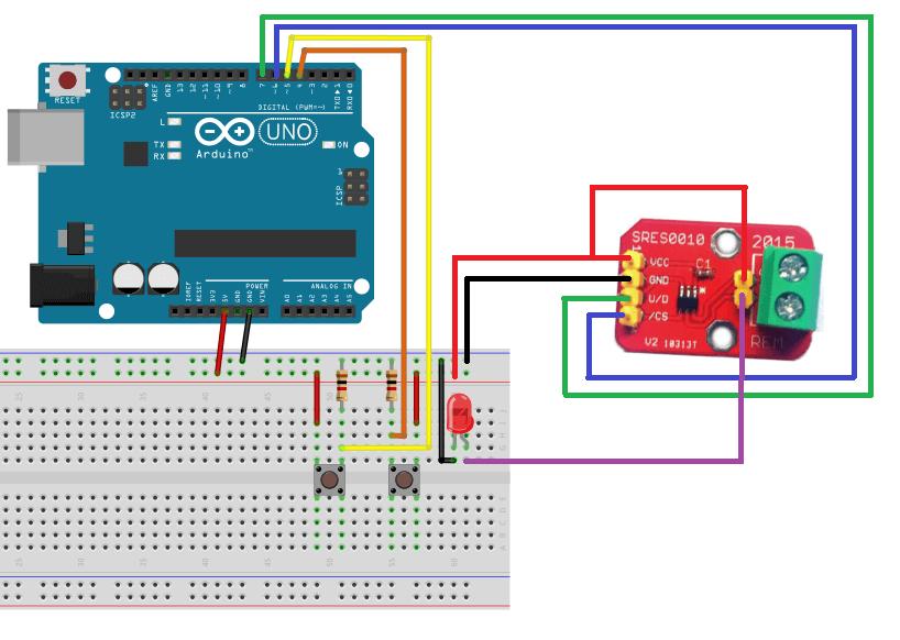 Diagrama de conexión Arduino MCP4022