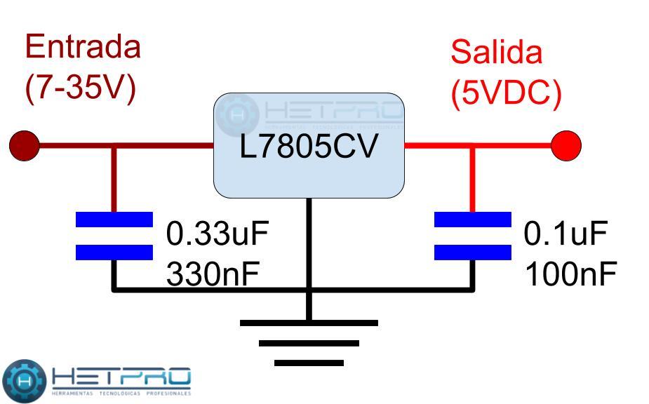 Circuito para el L7805CV