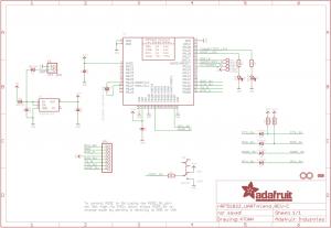 Diagrama esquemático Adafruit Bluefruit LE UART Friend