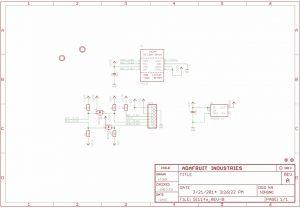 Diagrama esquemático Adafruit Sensor Digital S1145