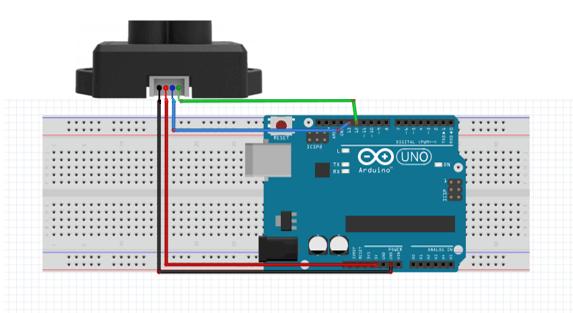 Diagrama de conexión sensor/arduino