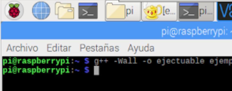Compilar la Raspberry PI con g++