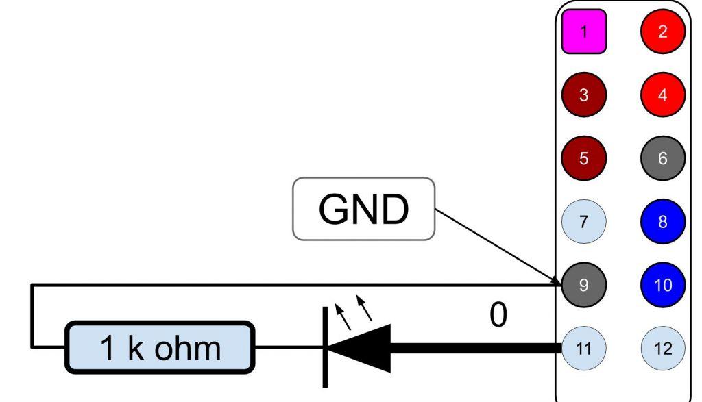 Conexion de un LED a una Raspberry PI B 3 plus