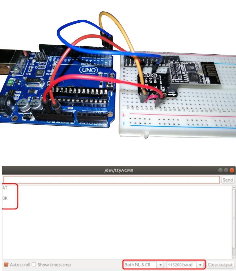 Conexion del ESP8266 con Arduino