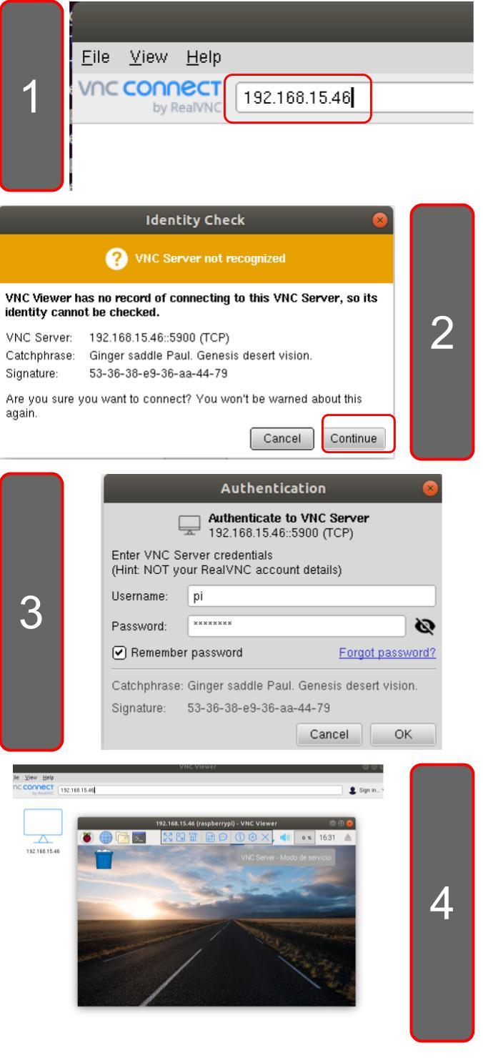 Controlar una Raspberry PI remotamente con VNC Server