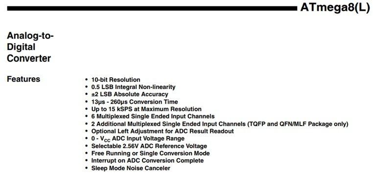 Características generales del ADC