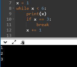 while, break