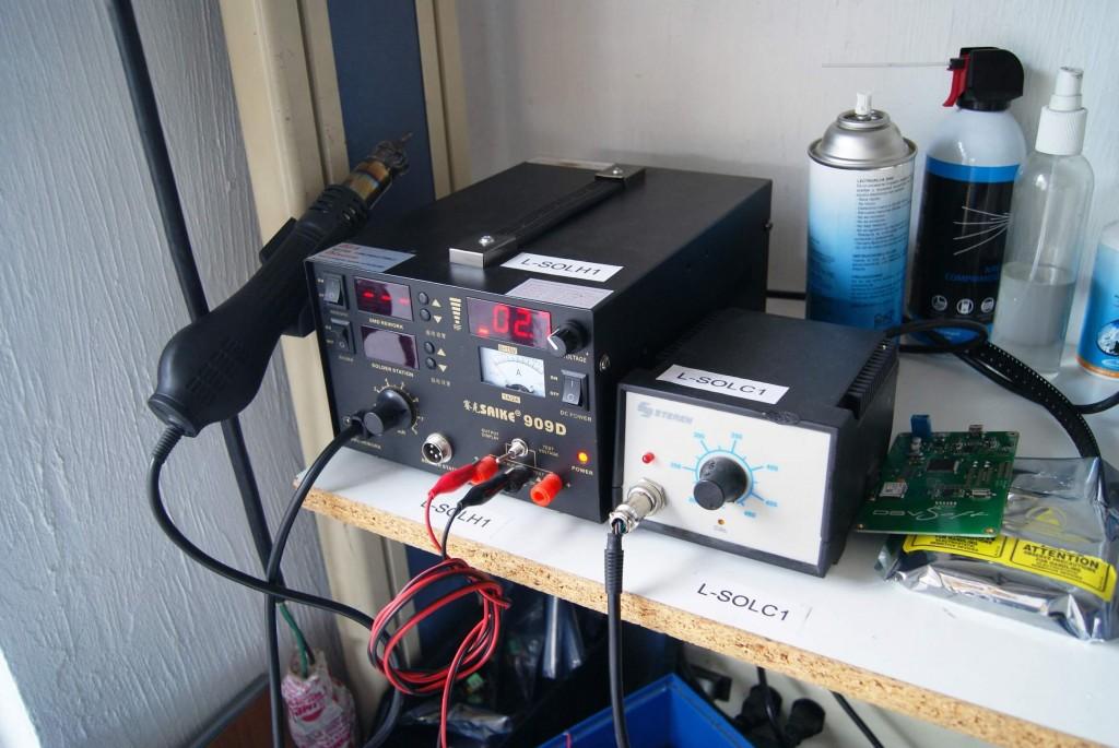 Ensamble de PCB fuente estación de soldadura