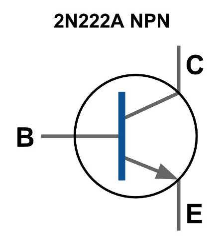 2N222A símbolo