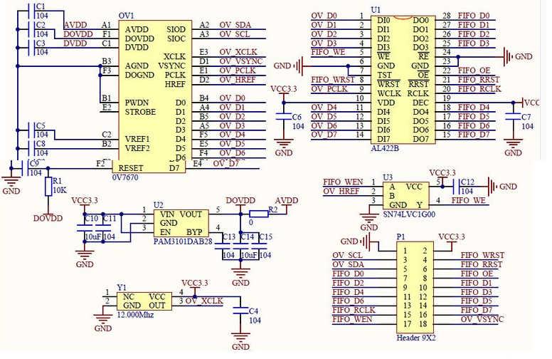 OV7670 esquematico