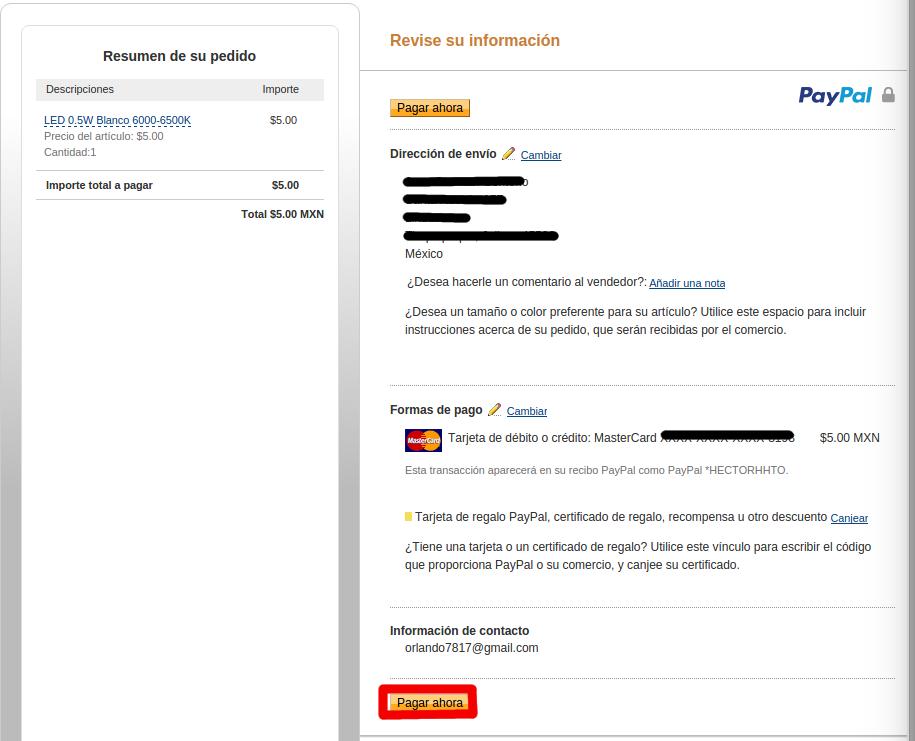 Metodo depago Paypal