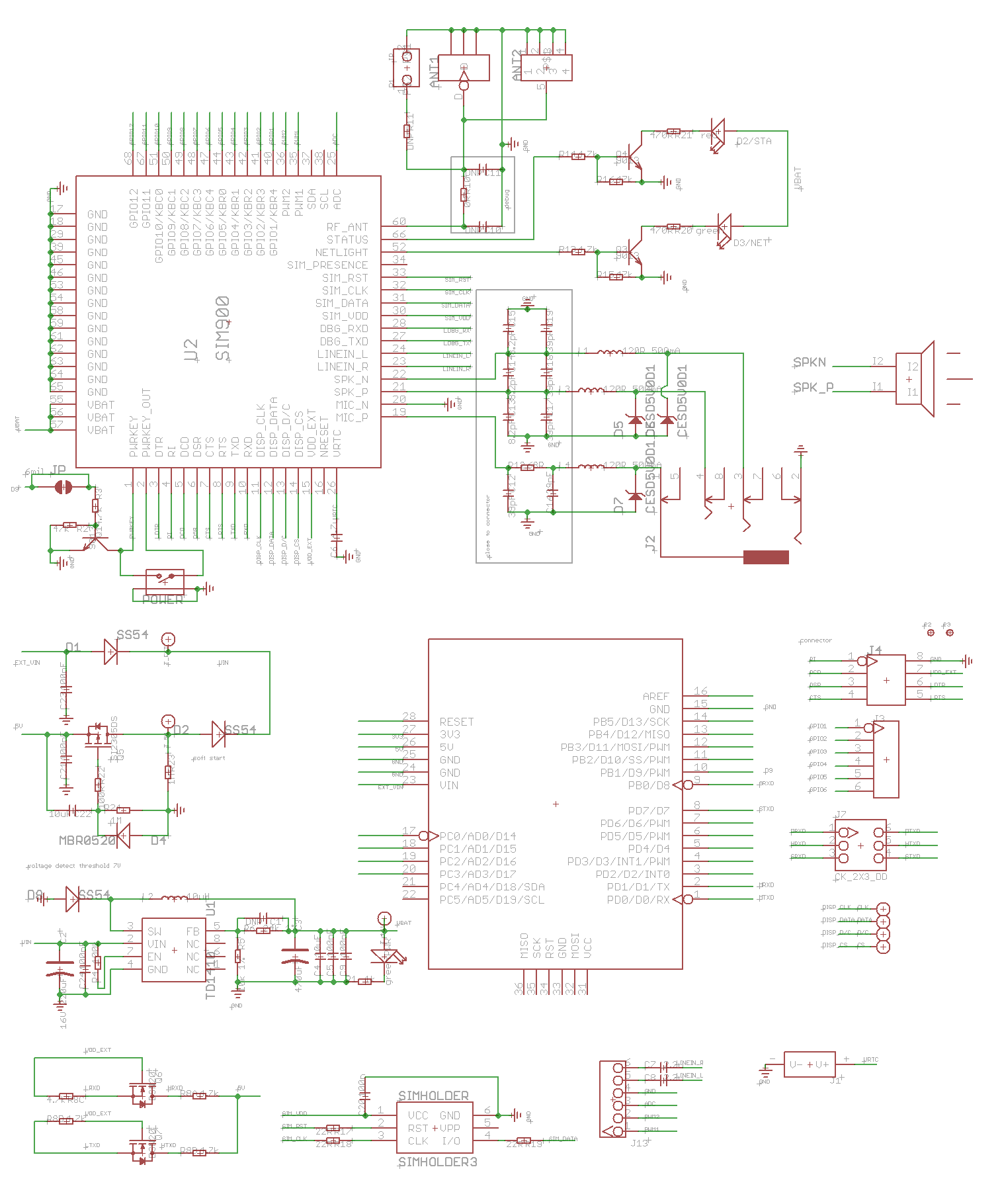 SIM900 diagrama