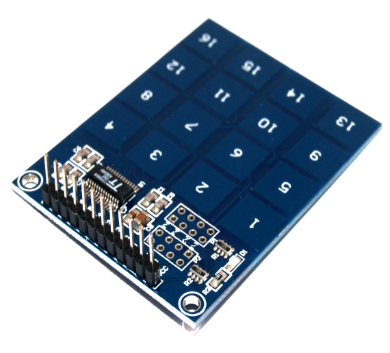 Teclado matricial touch pad TTP229 16 canales