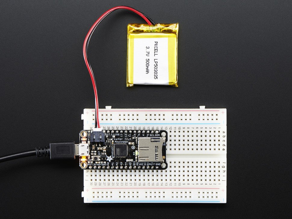 Adafruit Feather 32u4 registrador de datos