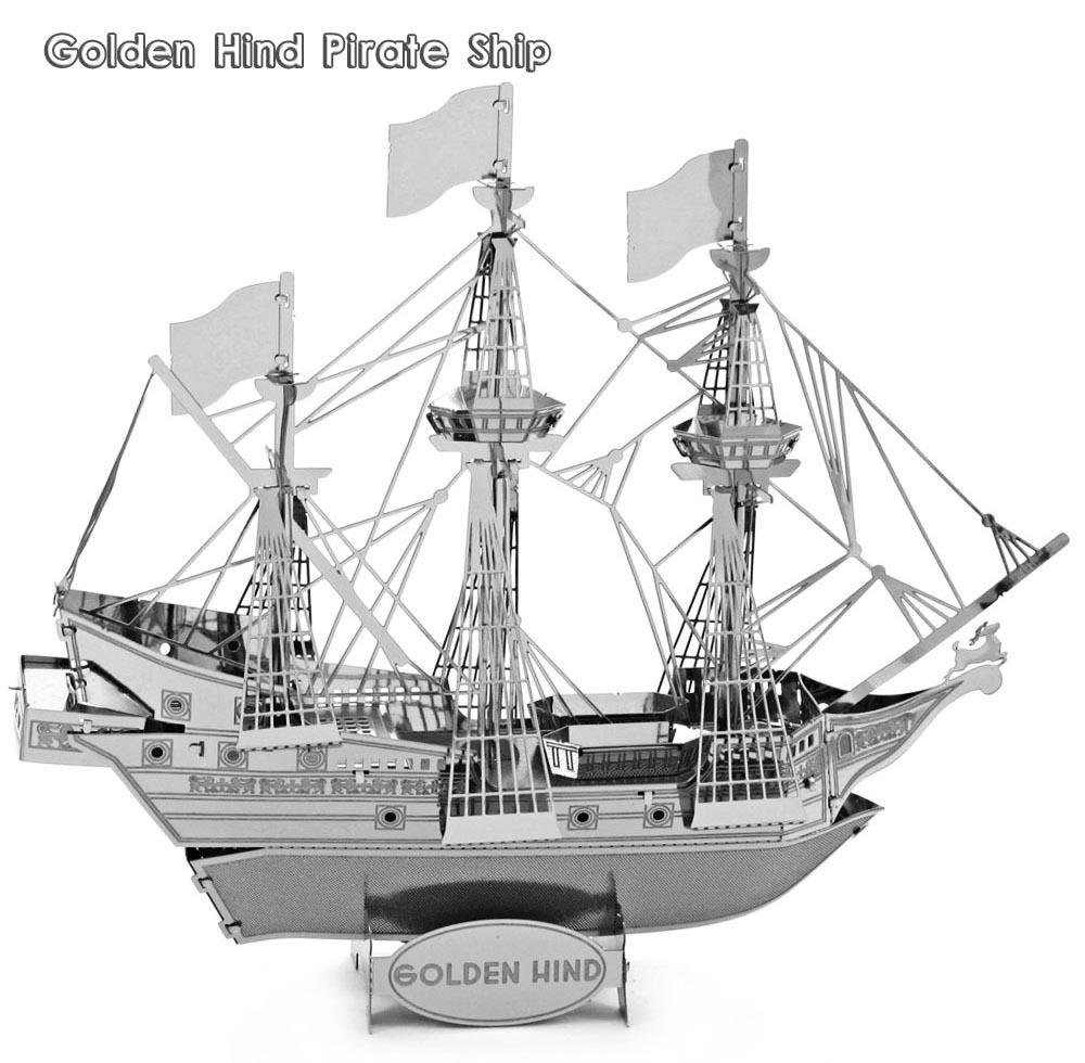 Barco pirata para ensamblar