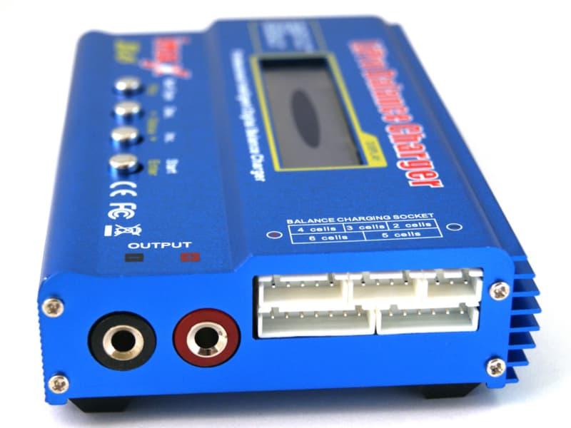 """Cargador balanceador de baterías iMAX de 80W B6 2.5 """"LCD RC Lipo - Azul"""