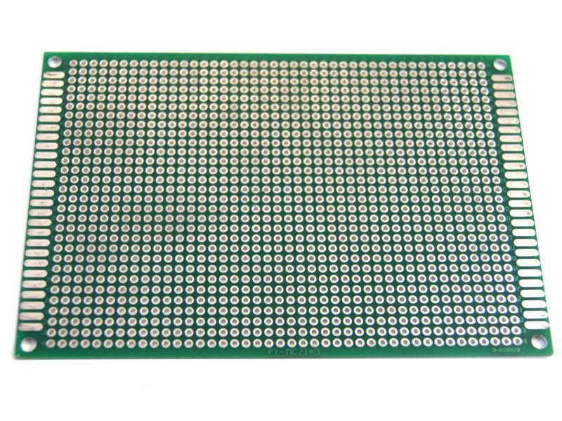 Baquelita PCB perforada 8x12-cm