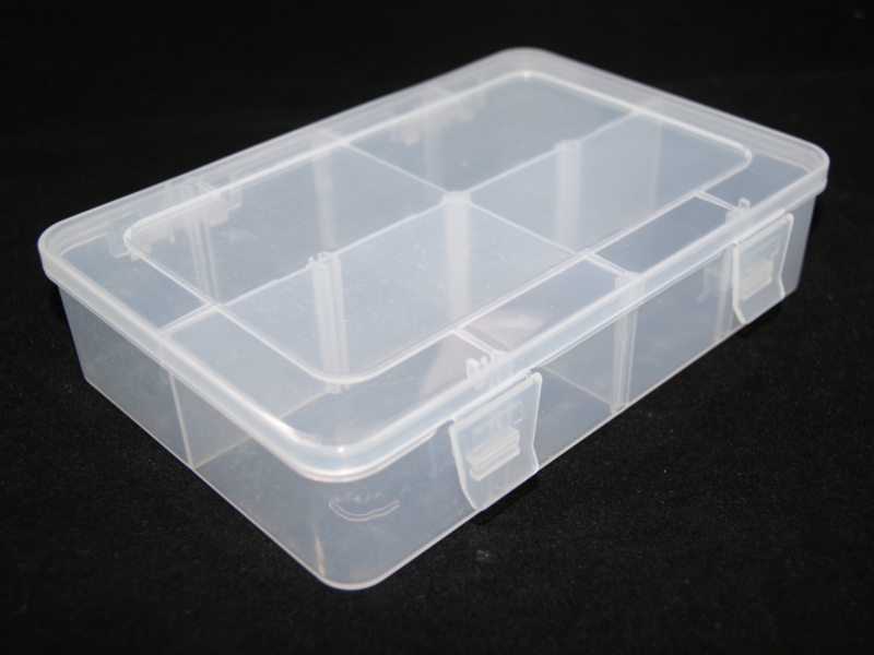 Caja transparente 4 divisiones