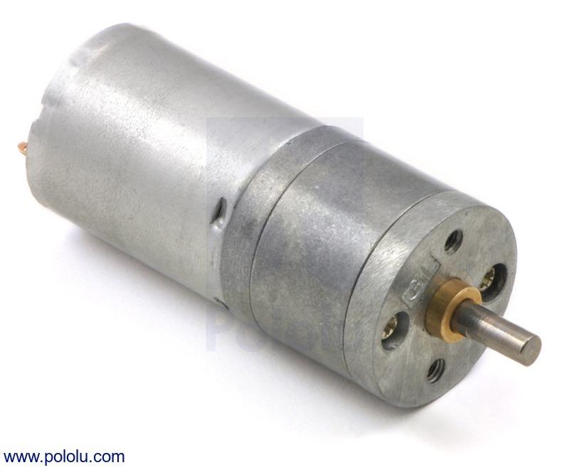 Motorreductor metalico 12V 100 RPM 99:1 25Dx54L mm 48 CPR Encoder
