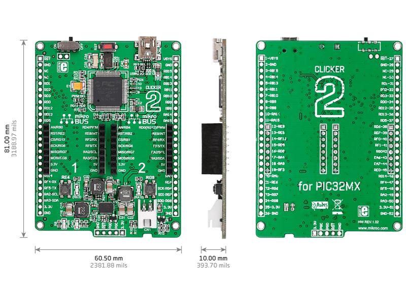 Clicker 2 para PIC32MX