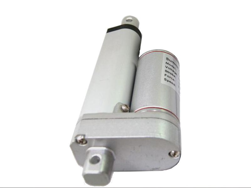 Vista frontal, Actuador lineal 65mm 300N 24V