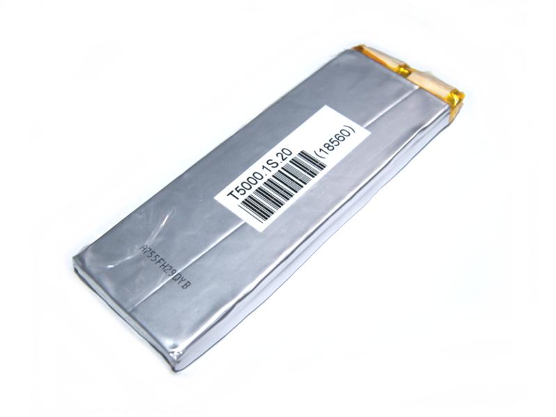 Vista posterior, Batería Lipo 3.7v 5000mAh 1 celda