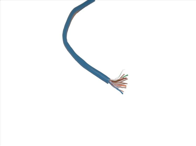 Vista frontal. Cable UTP categoría 5E (metro)