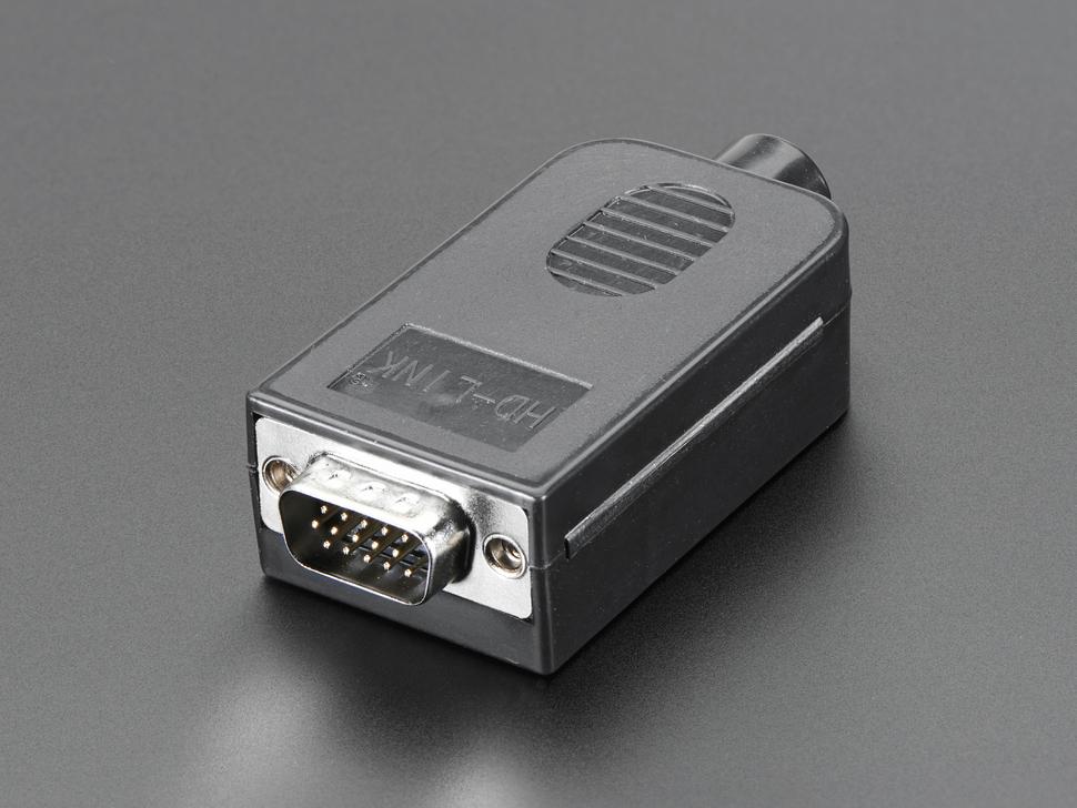 Vista frontal. Conector DB15 Macho Adafruit 3121