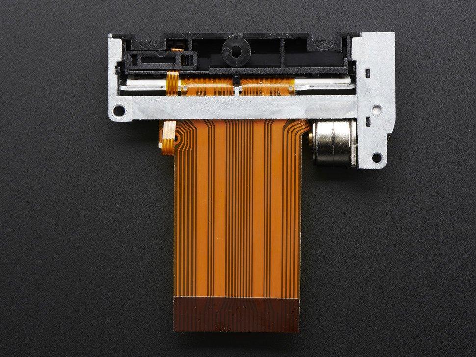 Vista frontal. Impresora termica adafruit 2753