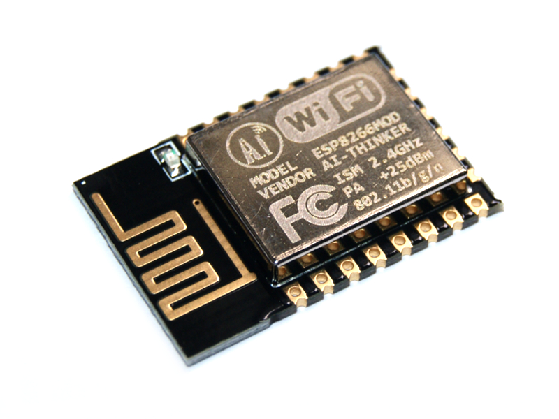 Vista diagonal, Módulo WiFi Serial WSP8266 ESP8266 p/PCB