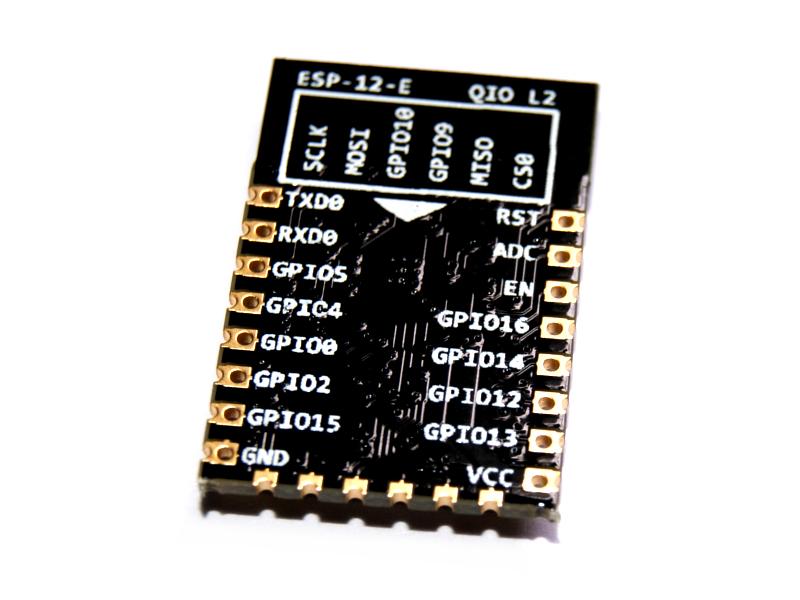 Vista posterior, Módulo WiFi Serial WSP8266 ESP8266 p/PCB