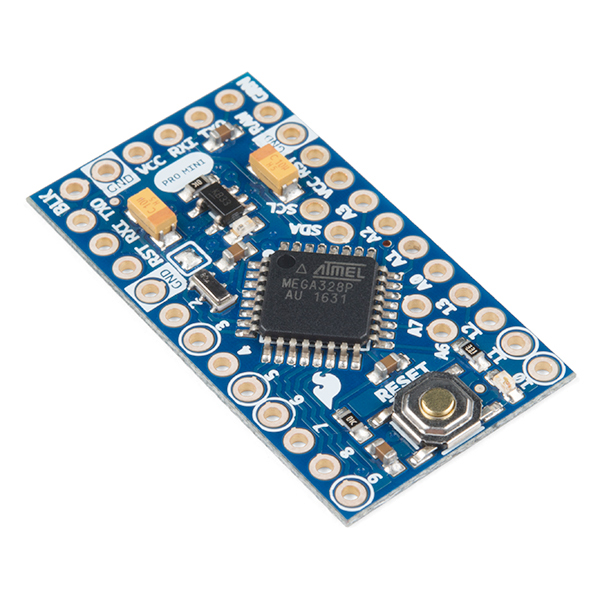 Vista diagonal, Arduino Pro Mini 328 3.3V-8Mhz