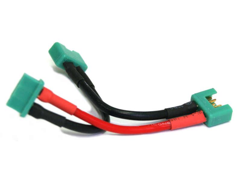 Vista frontal. Arnes de bateria MPX De 2 paquetes en serie