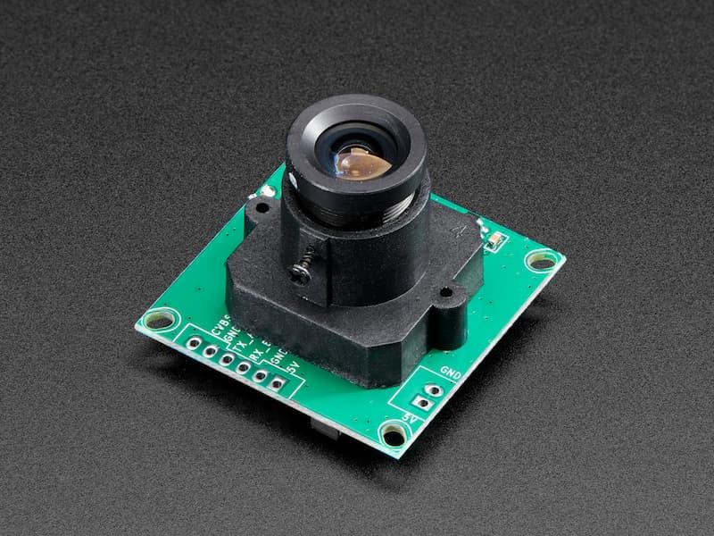 Vista diagonal, Cámara serial TTL con video NTSC