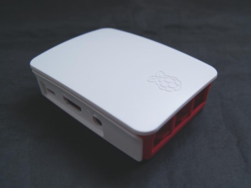 Vista lateral, Case para Raspberry Pi 3 Modelo B