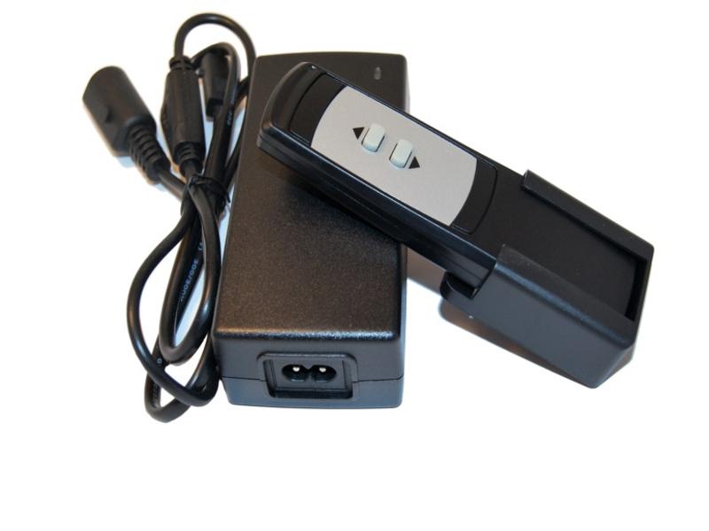 Vista frontal, Fuente control para actuador lineal 12V DC