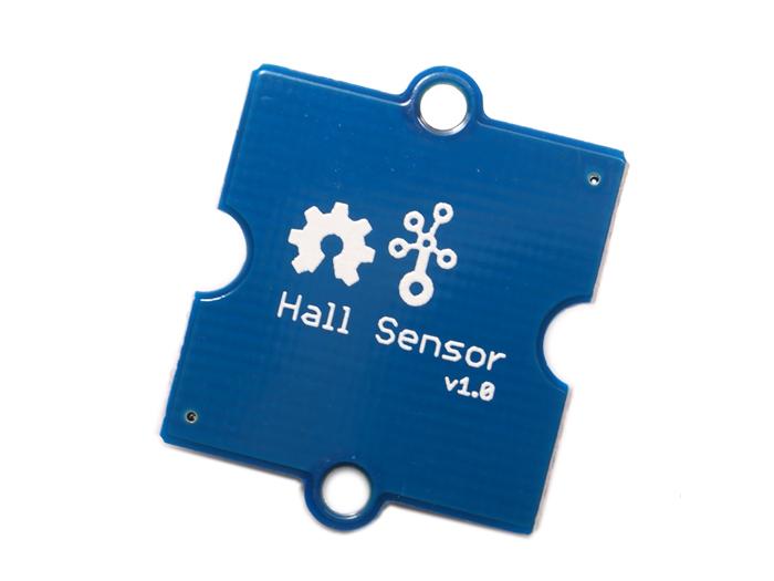 Vista posterior, Grove sensor de efecto Hall