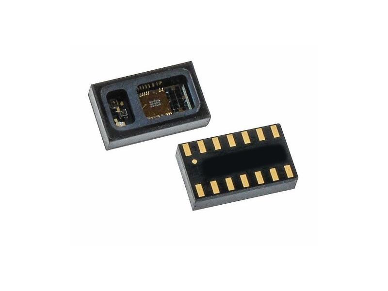 Vista frontal, MAX30100 Sensor biomédico